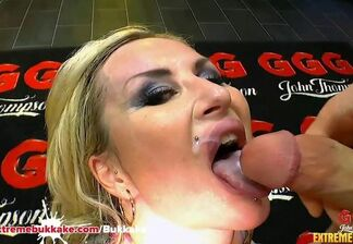 Mass ejaculation oral pleasure
